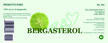 Bergasterol Bergamot juice: special superfood drink